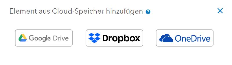 Dateien aus Cloud-Speicher